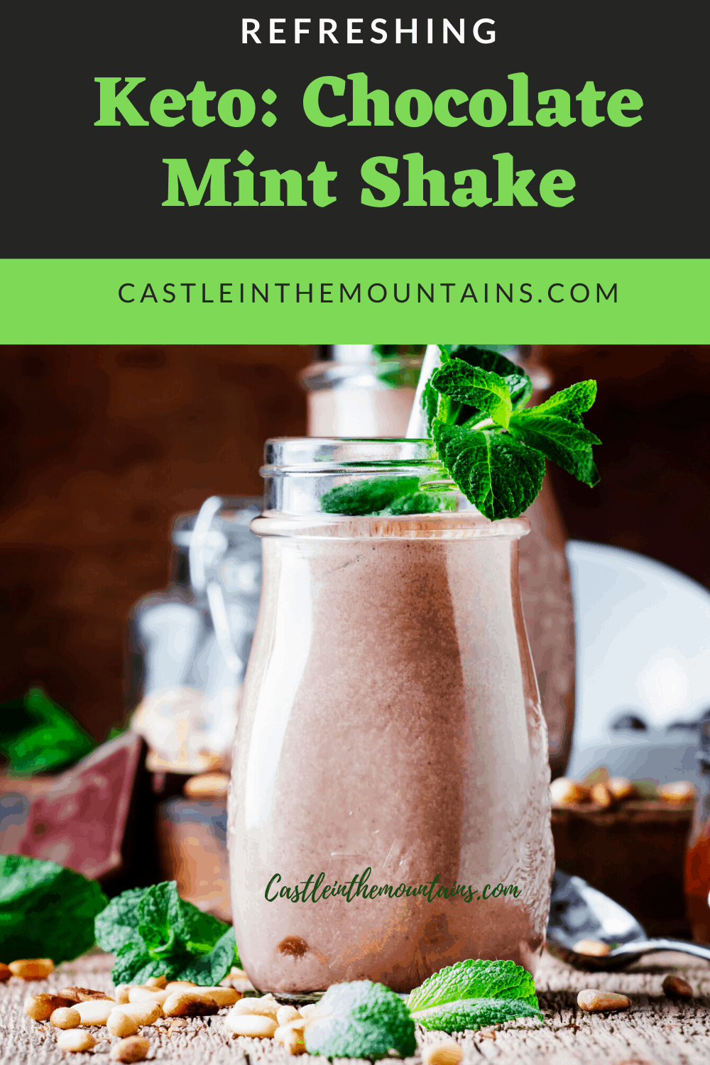Keto Chocolate Mint Shake