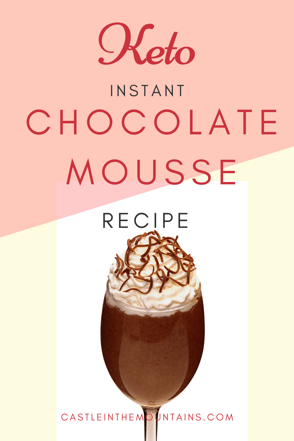 Instant Keto Chocolate Mousse