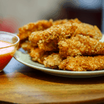 Keto Coconut chicken strips featured image