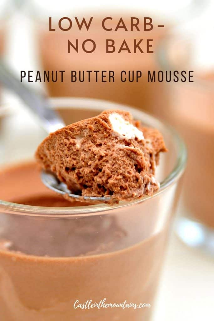 Keto Peanut Butter Cup Mousse Recipe Pins (5)