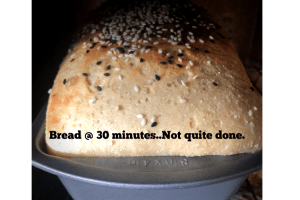 Keto Yeast Bread- first peek