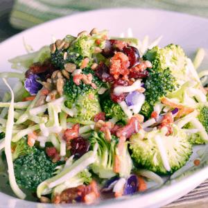 Keto bacon broccoli salad FI