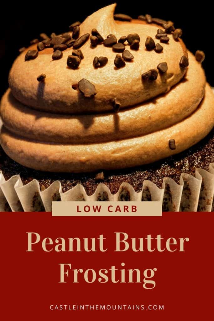 Low Carb Peanut Butter Frosting Recipe Pin (5)