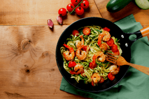 Shrimp and Zoodles recipe finished