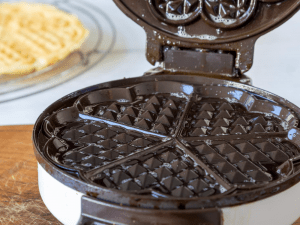 Preheat waffle maker