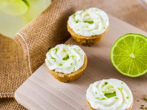 Keto Key Lime Mini Tarts Finished