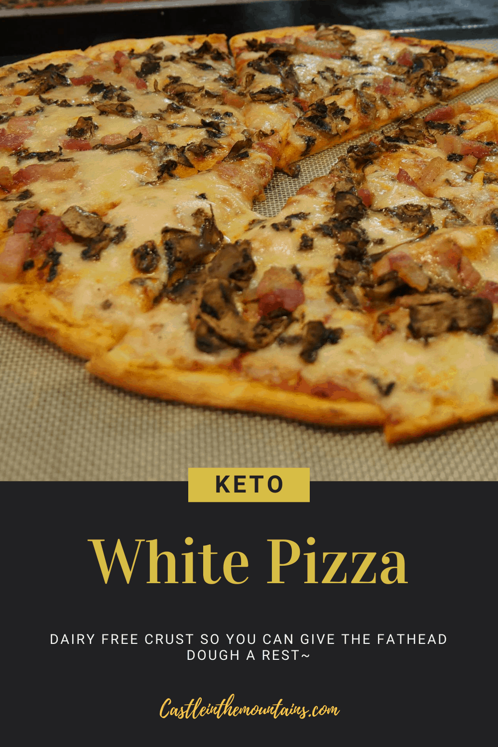 Low Carb White Pizza