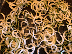 bake zucchini noodles