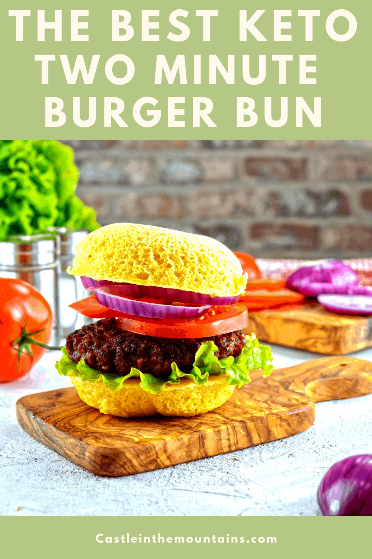 Two Minute Burger Bun - How to make the easiest Keto Bun