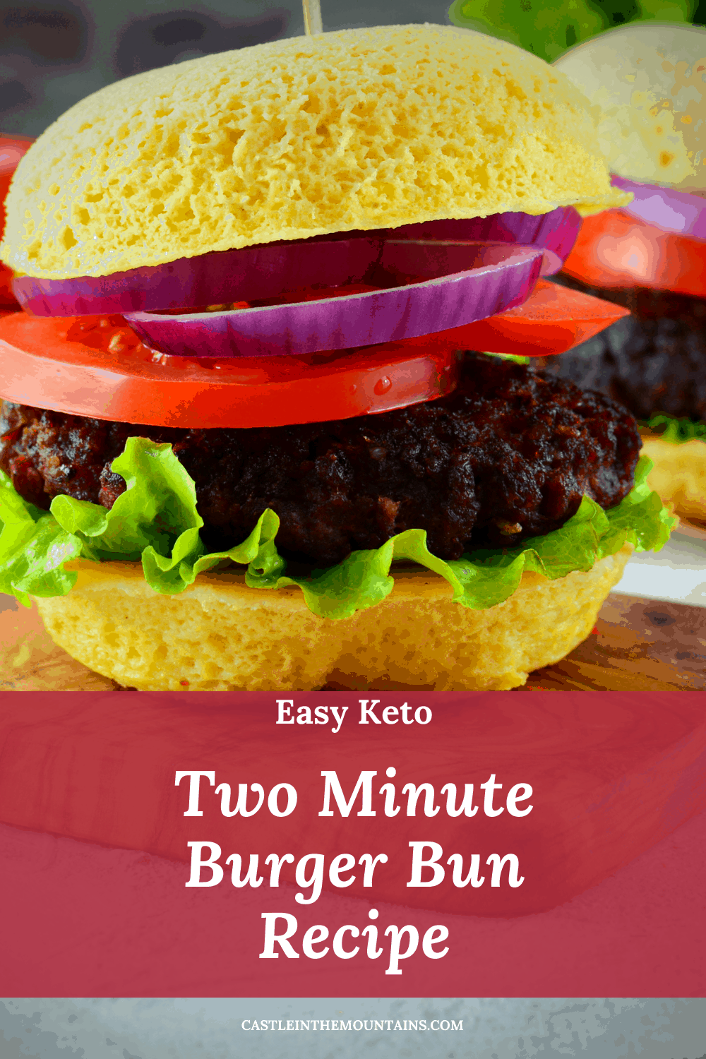 Two Minute Burger Bun - How to make the easiest Keto Bun