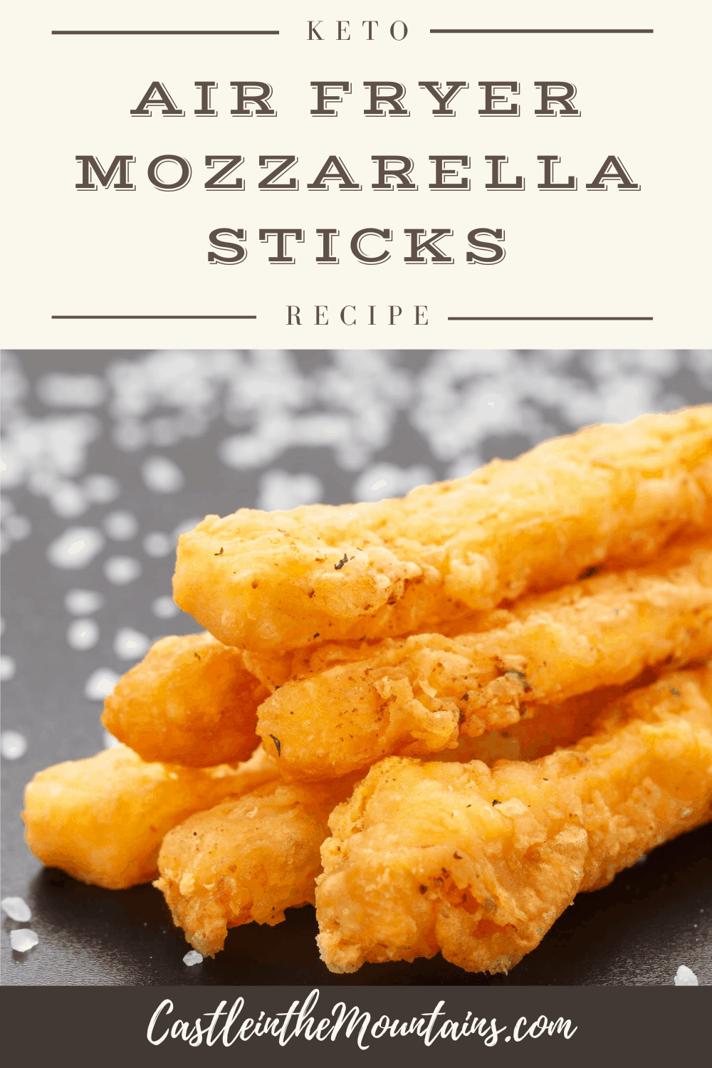Keto Air Fryer Mozzarella Sticks