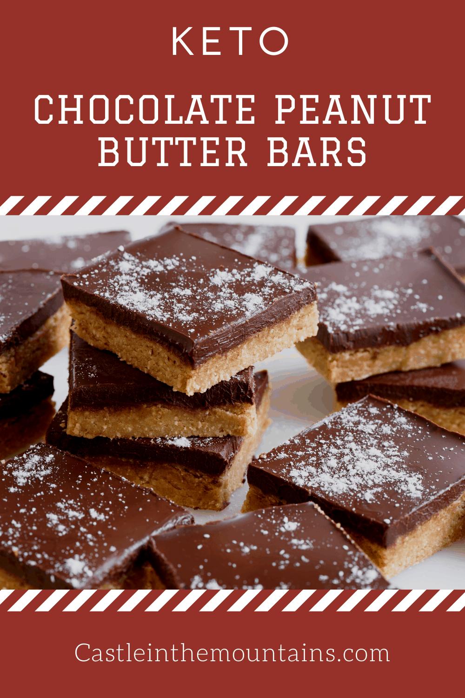 Keto Peanut Butter Cup Bars -No Bake