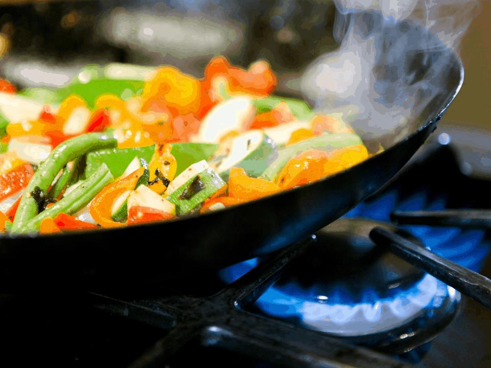 Sauteing veggies