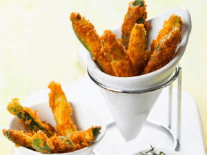 Served Zucchini Fries