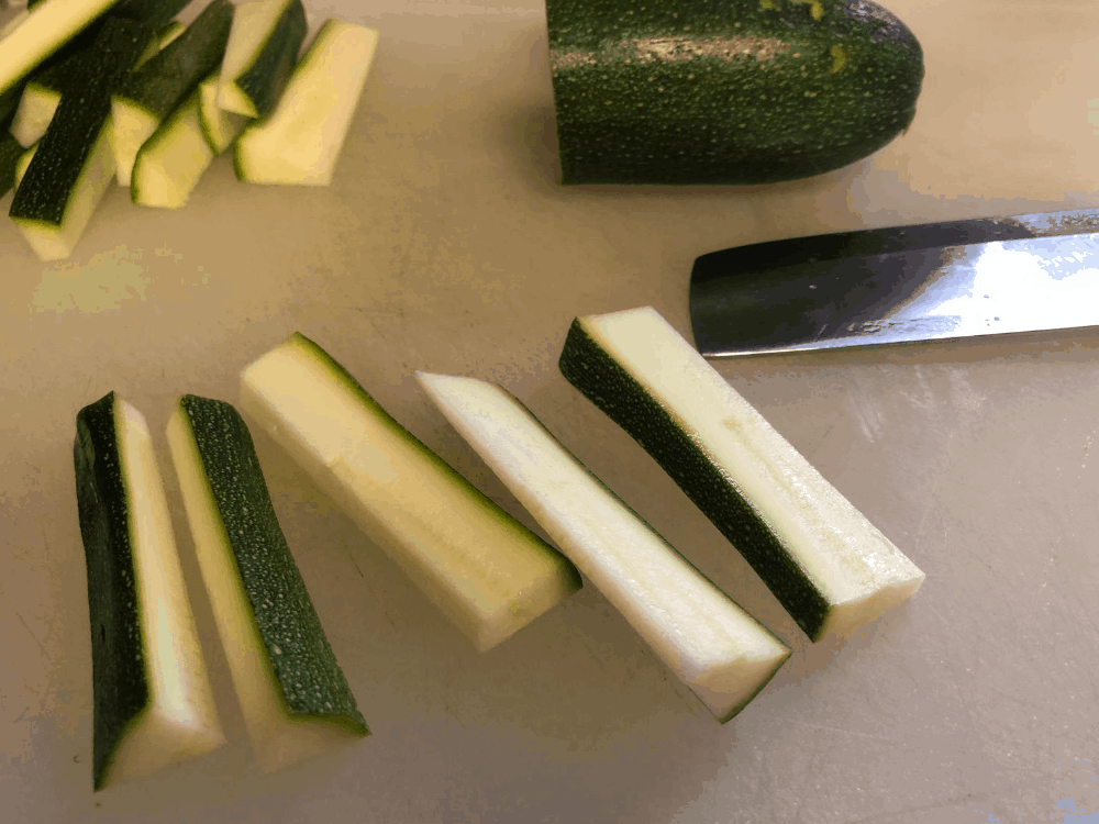 Cut Zucchini Fries