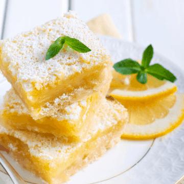 Sugar free lemon squares FI
