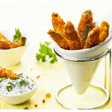 Low Carb Zucchini Fries FI