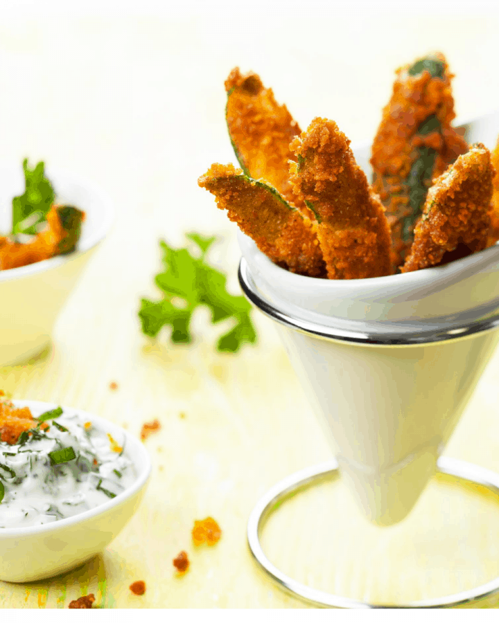 Low Carb Zucchini Fries FI