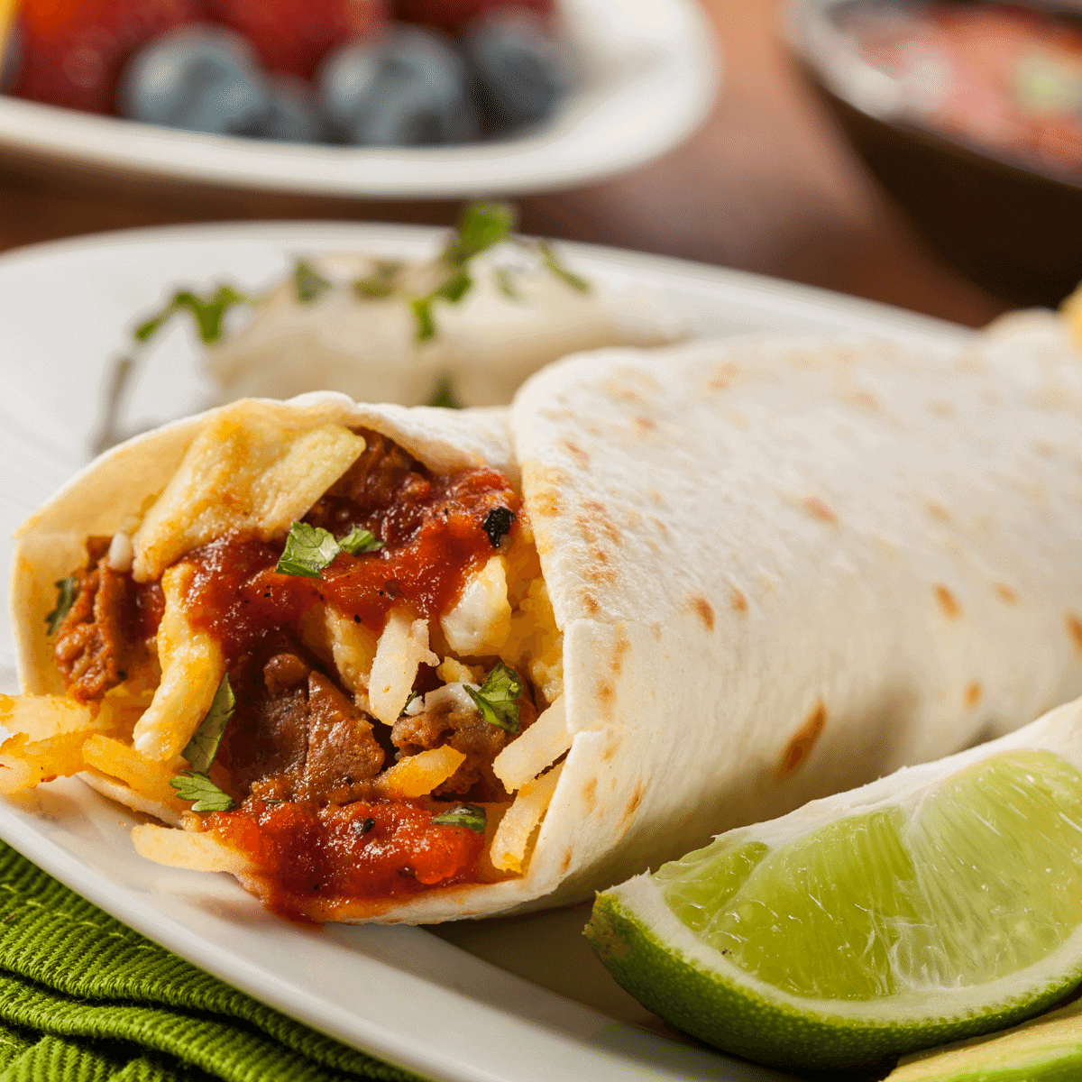 Low carb Breakfast Burritos