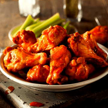 Low carb buffalo hot wings fi