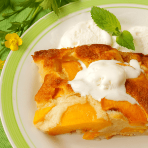 Low Carb Peach Cobbler FI