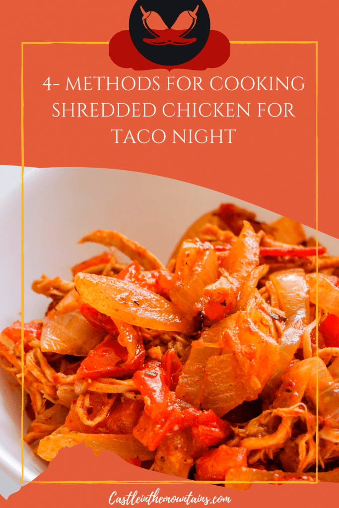 How to make shredded chicken pins (3)