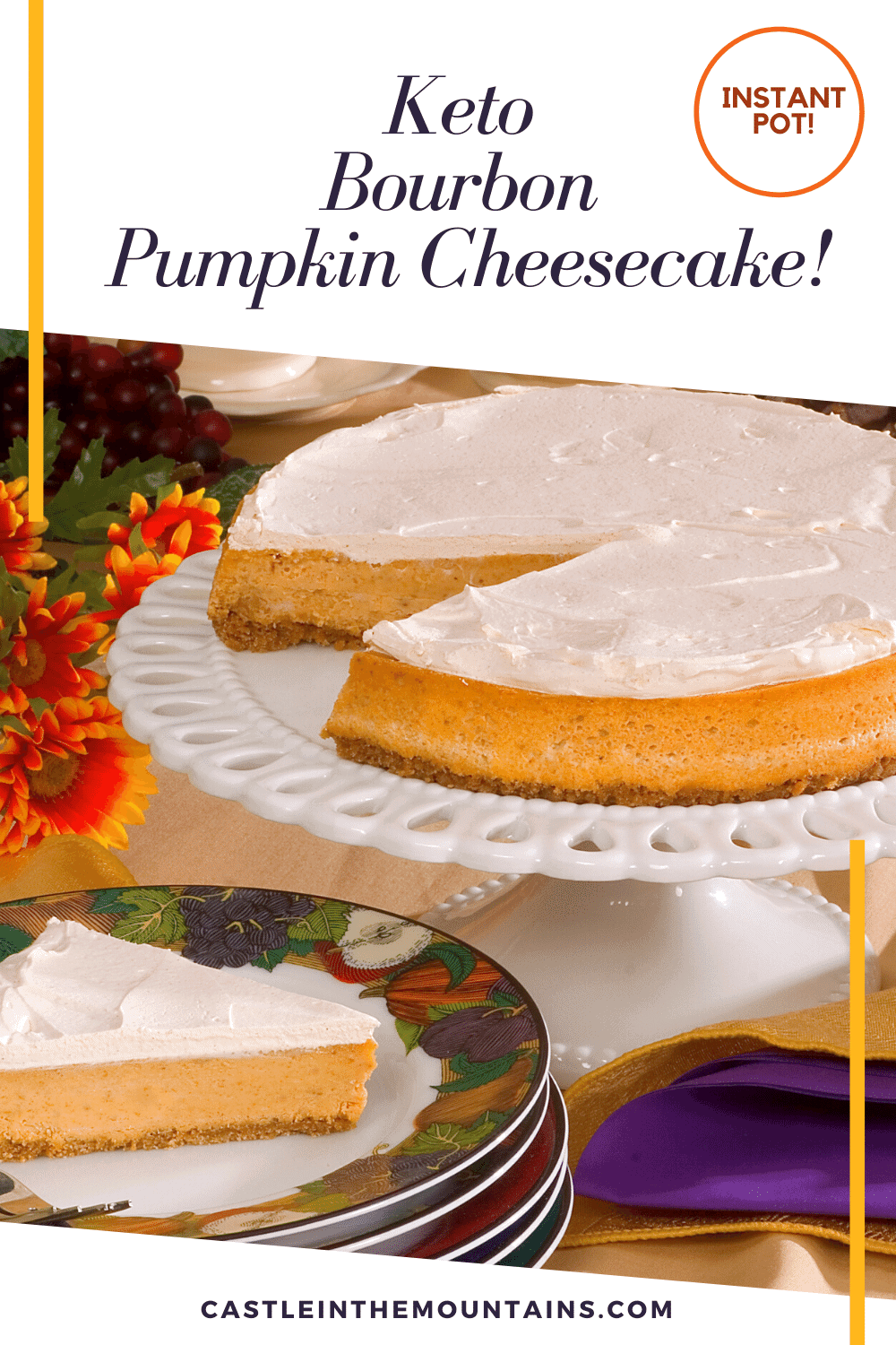 Bourbon Pumpkin Cheesecake Recipe