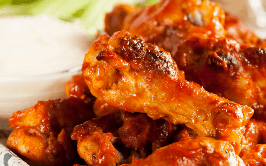 Served Low Carb Buffalo Hot Wings