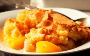 Served Peach Cobbler