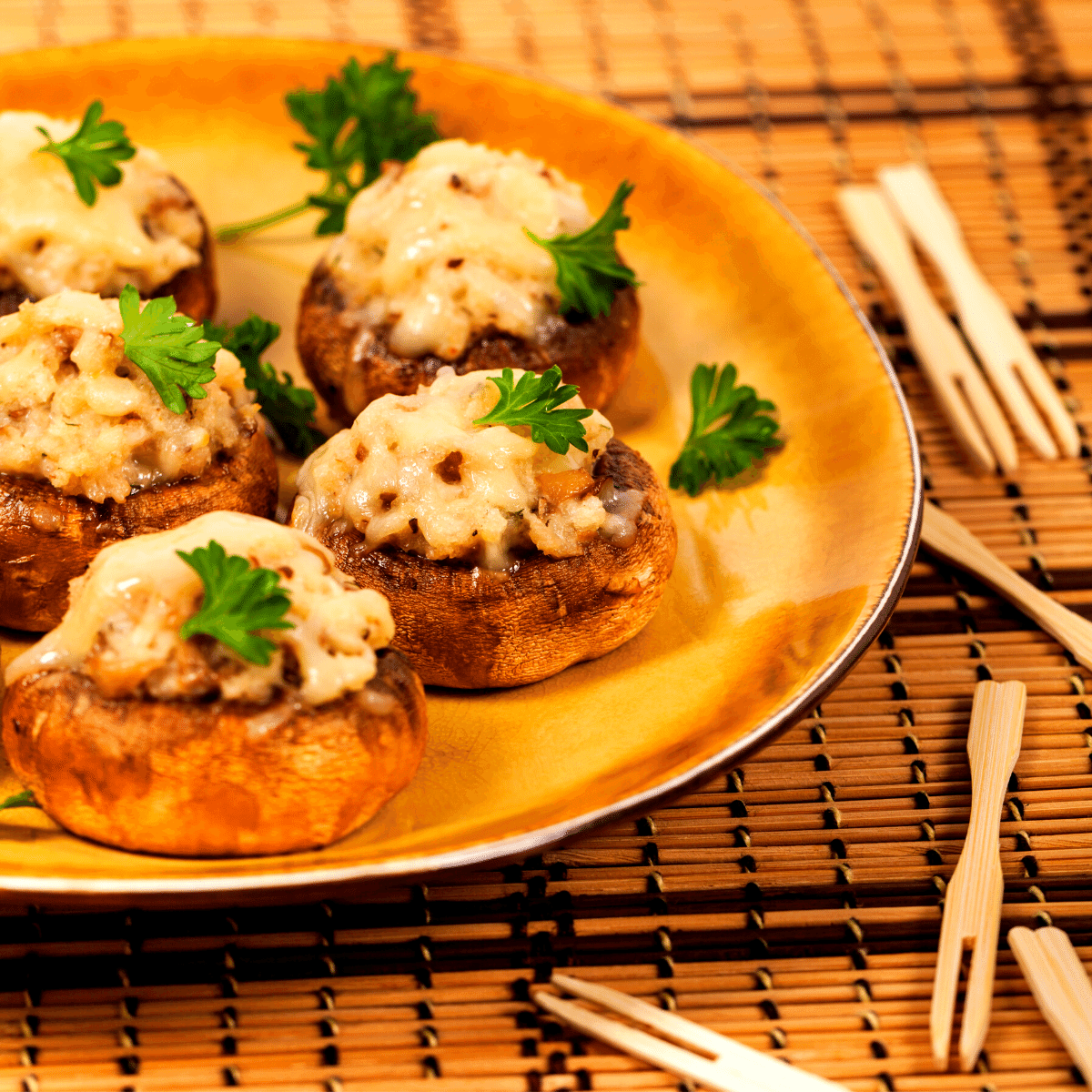 Low Carb Stuffed Mushrooms FI