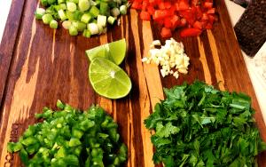 chopped veggies for low carb pico de gallo (1)