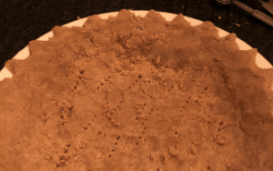 Pre- Baked pie crust with holes poked in it