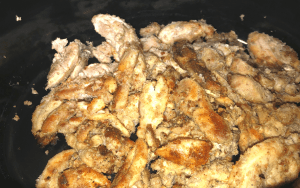 Browned chicken in the crock pot