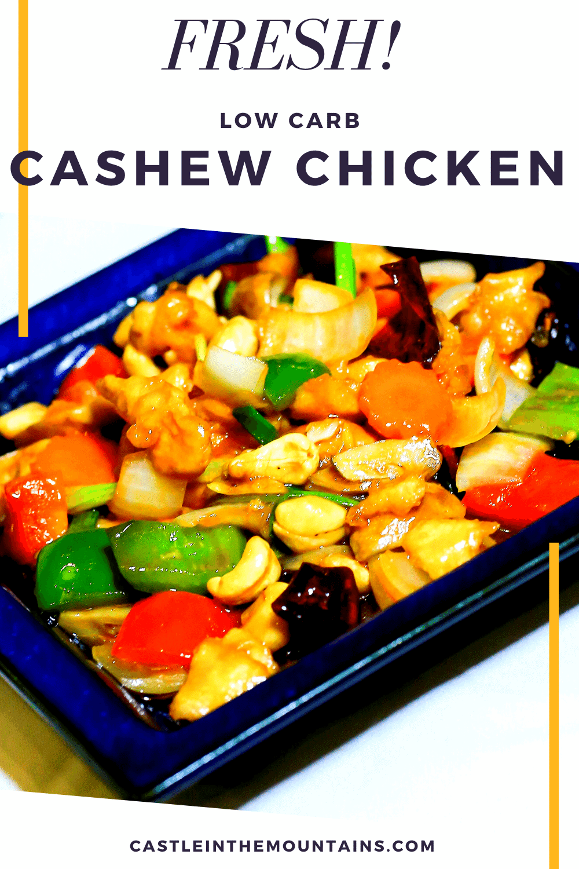 Low Carb Cashew Chicken - Easy Crock Pot Version...