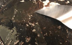 Deglazing cast iron pan