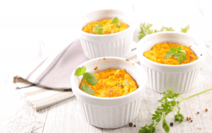 Pumpkin souffle in ramekins