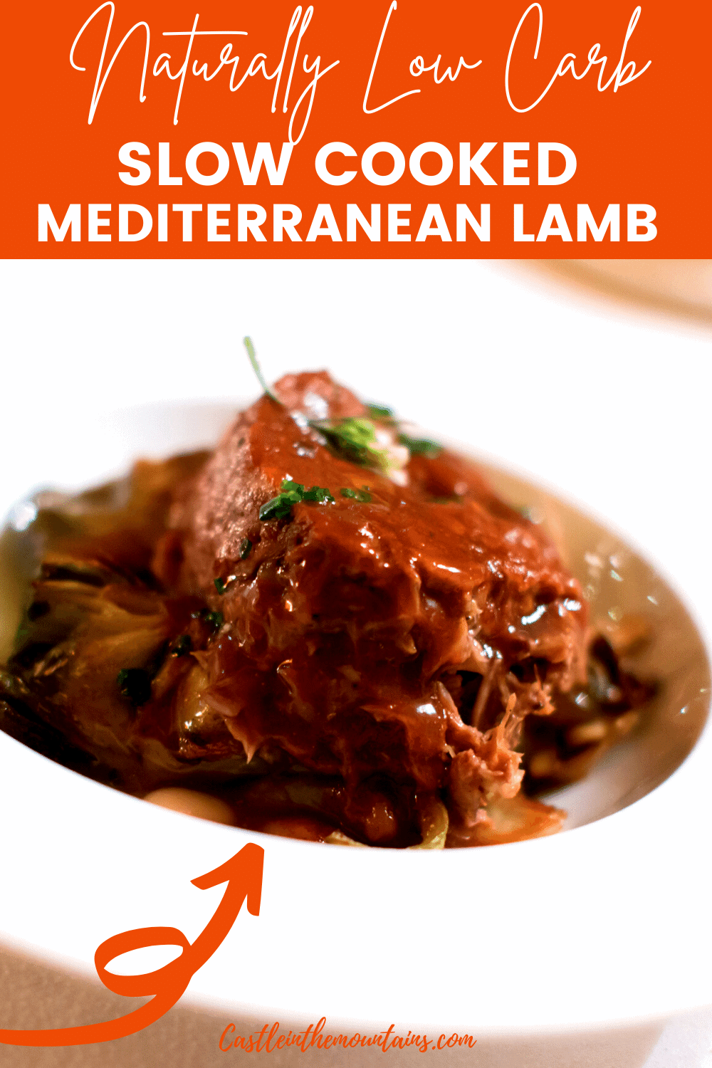 Slow Cooked Mediterranean Lamb - How to make tender lamb.