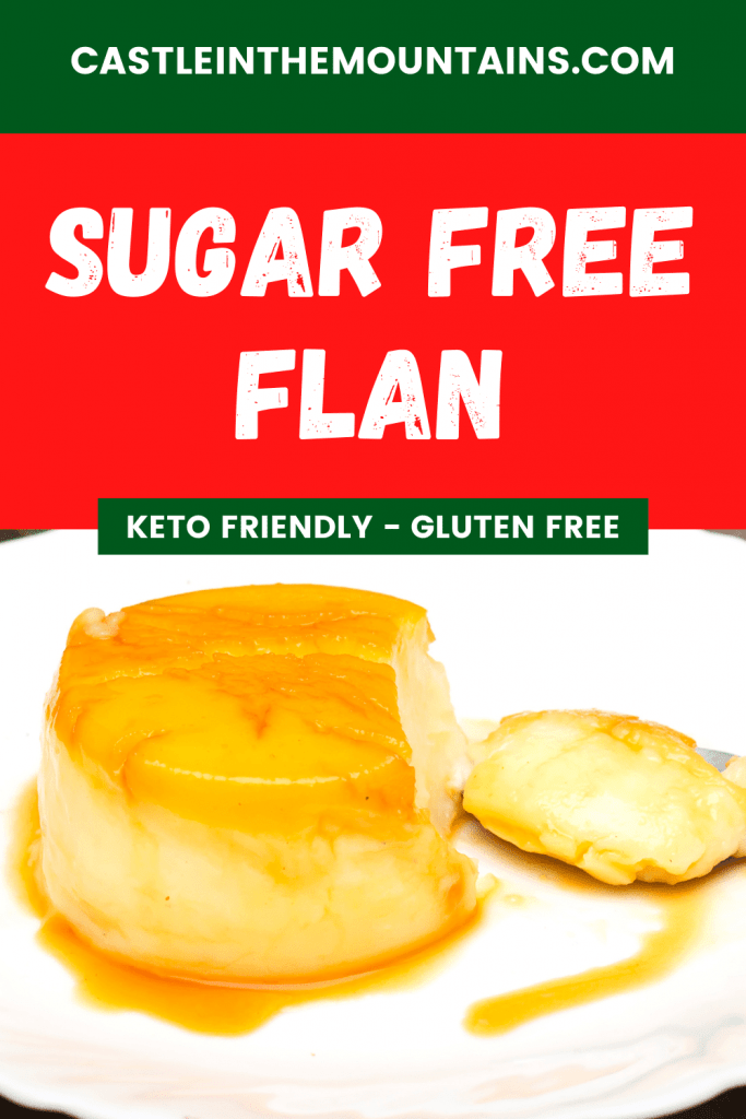Keto sugar free flan recipe