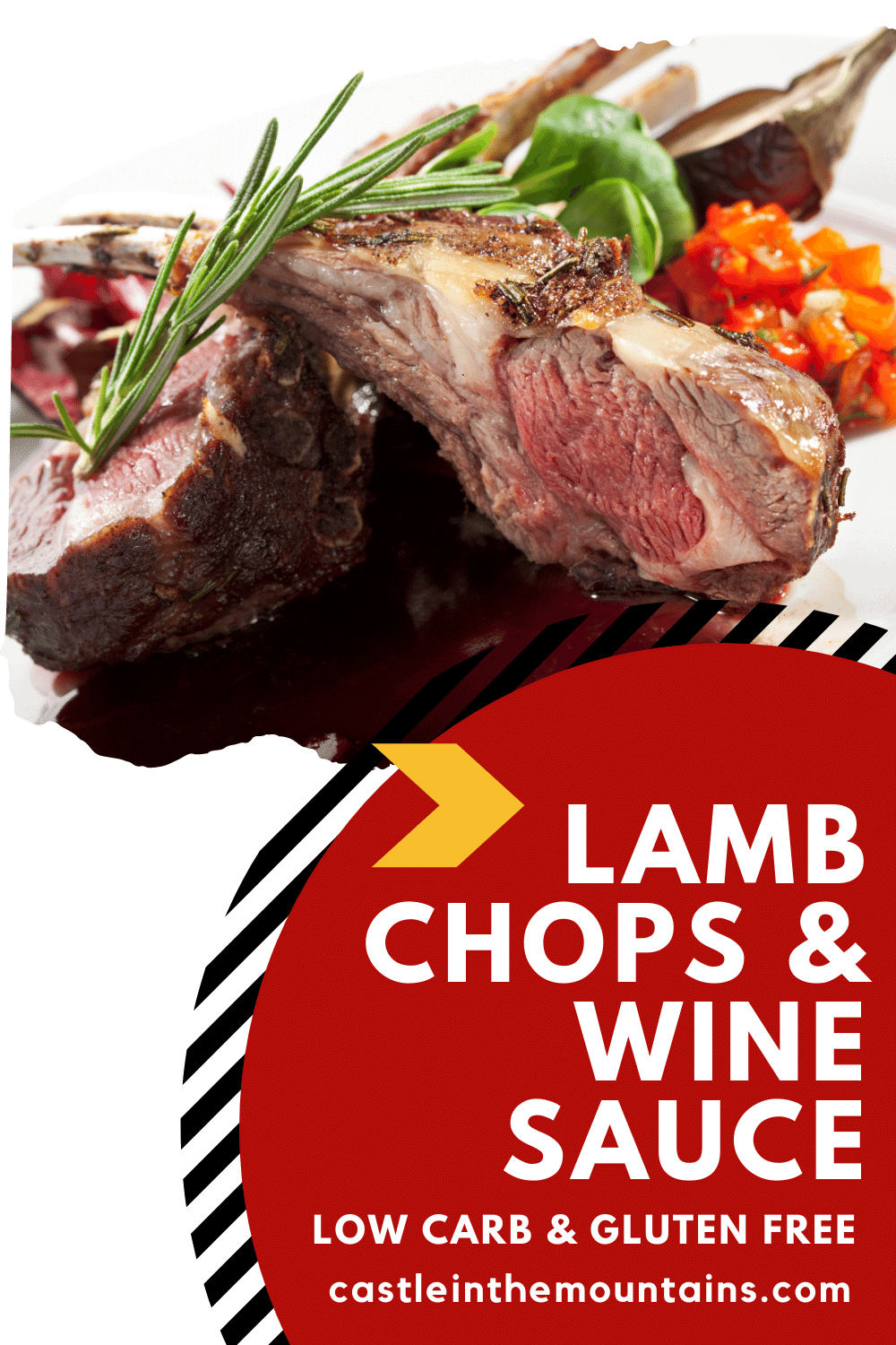Lamb Chops with Low Carb Sauce- How to Make a Wine Reduction Pan Sauce