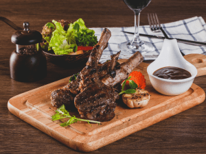 Lamb Chops with sauce on the side