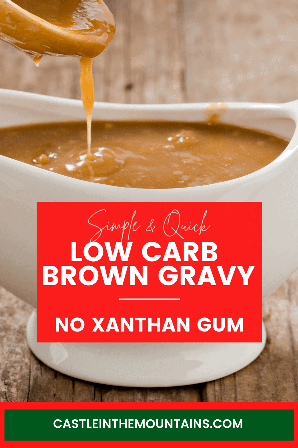 Brown Gravy - How to make Low Carb Gravy without Xanthan Gum