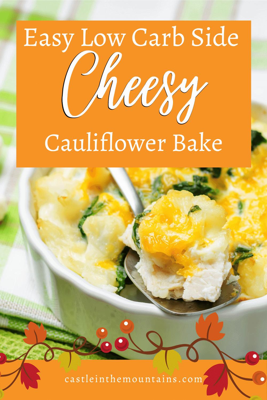 Cauliflower Cheese Bake - How to make cauliflower cheese casserole.