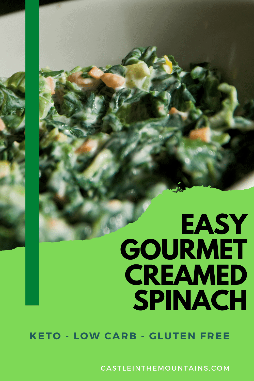 Creamed Spinach - An easy way to get more greens into your diet.