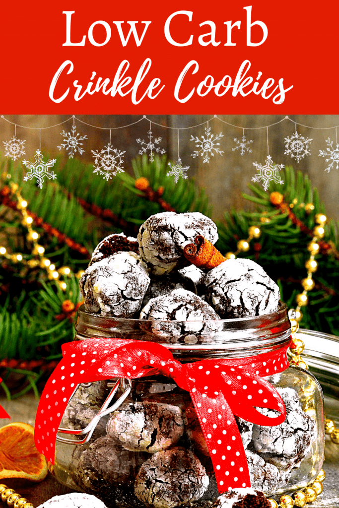Low Carb Crinkle Cookies