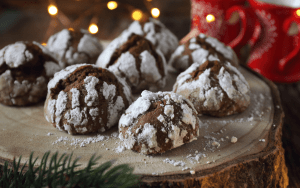 Served Low Carb Crinkle Cookies