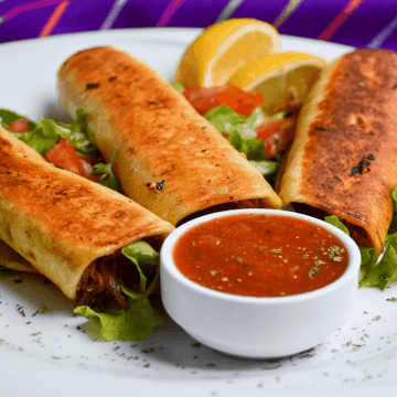 Low Carb Chicken Flautas