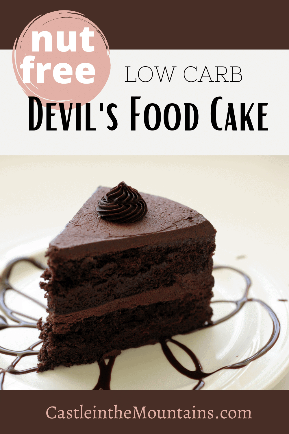 Nut Free Devil\'s Food Cake -How to make a Nut Free Keto Cake
