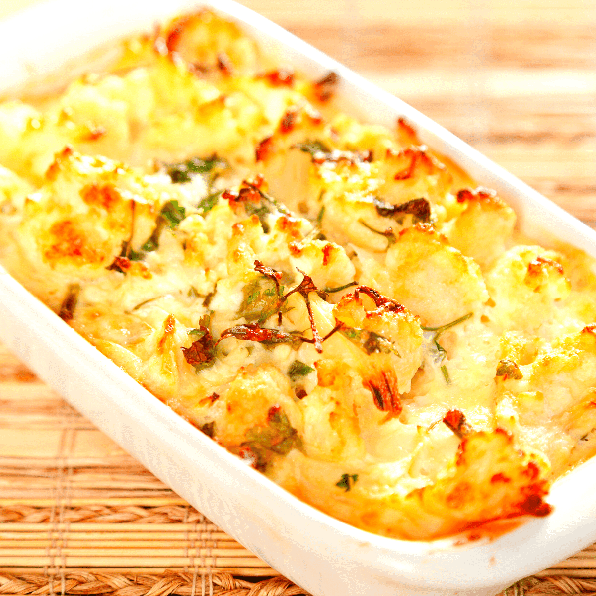 low carb cauliflower cheese bake FI