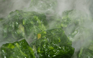 Cooking frozen spinach
