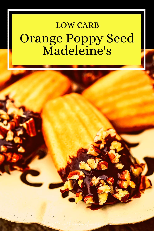 Orange Poppy Seed Madeleine\'s - How to make Keto Tea Cakes!